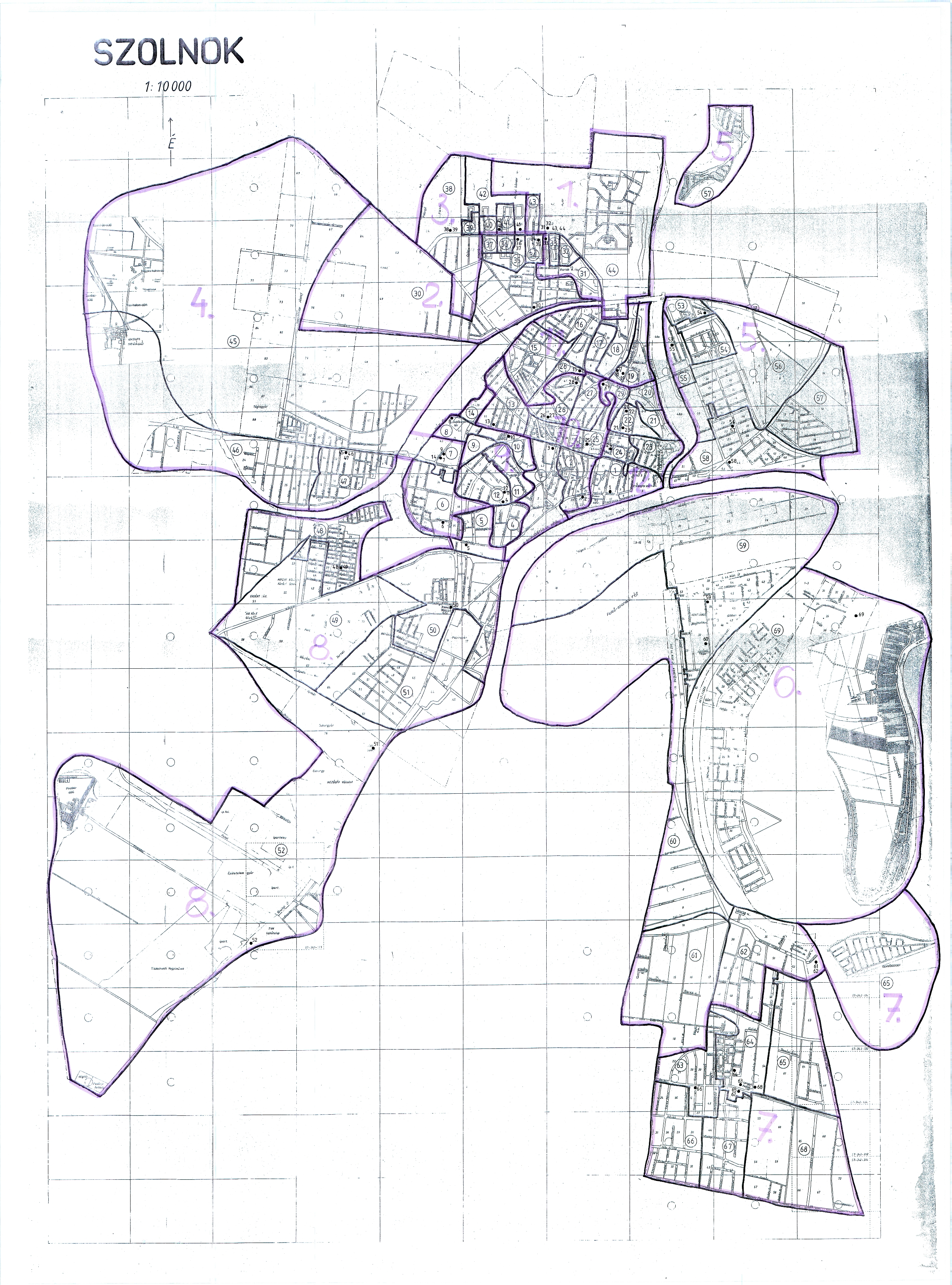 Szolnok Belváros Térkép